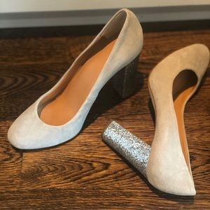 JCREW Sparkle Block Heel